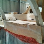 davits glued in