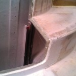 port engine door edge backfilled