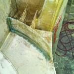 port davit step webs and front