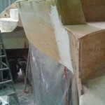 davit step rear panel fitted 1