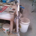 hand rail hose mold dry fit
