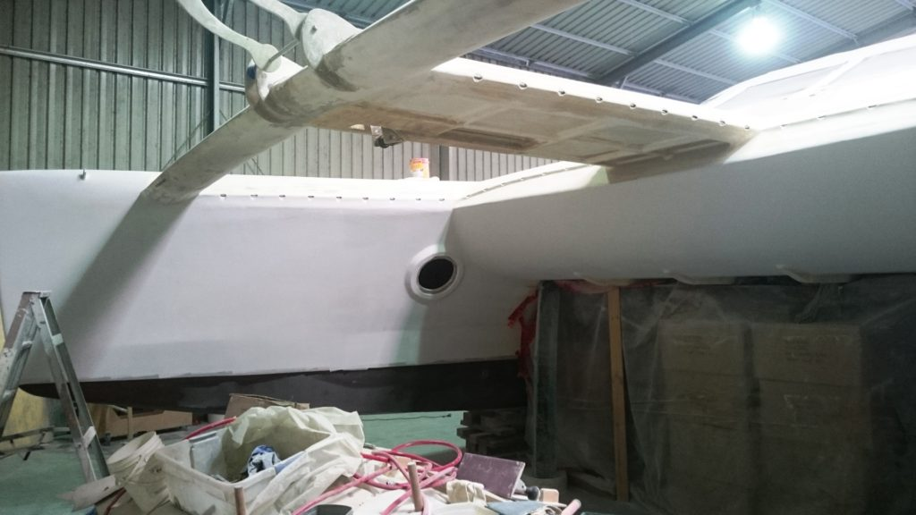 inside starboard bow microsurfaced