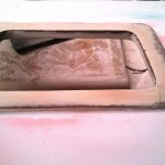 roof hatch frame cove after sanding