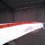 slight flat spot on roof edge