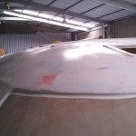 roof first highbuild sanded and wet down starboard front 3