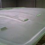 roof highbuild second coat starboard rear corner