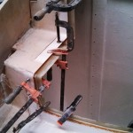 gluing port engine door supports in