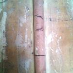 point along conduit where drain falls