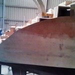 starboard step side panel removed