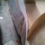 davit step starboard rear panel glassed bogged