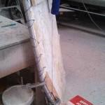hand rail setting on mold