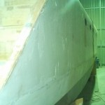 starboard hull first section bogged