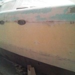 starboard sanded and high line marked