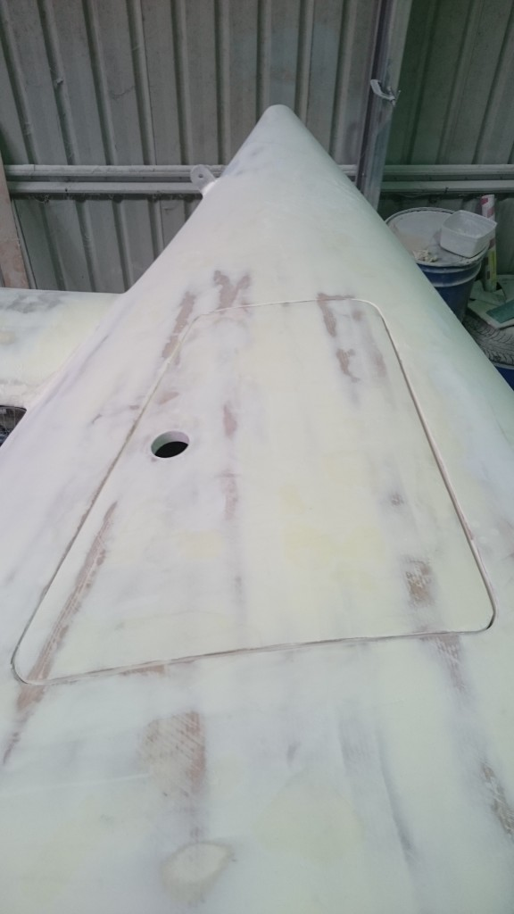 starboard well lid faired