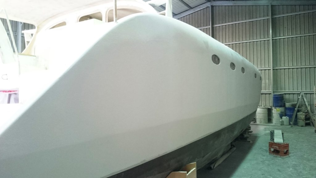 starboard hull microsurfaced 3